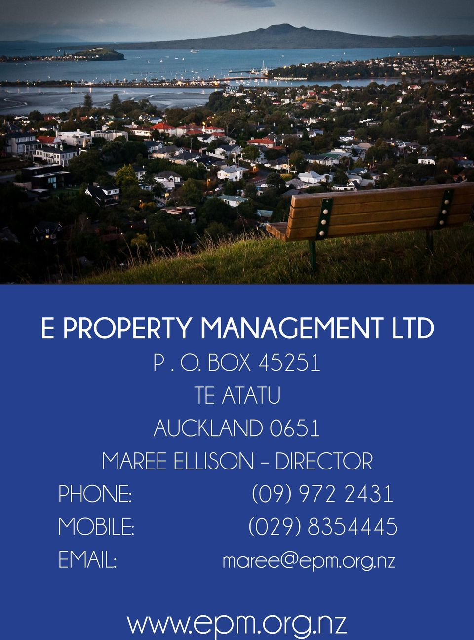 MOBILE: (029) 8354445 P. O. BOX 45251 EMAIL: maree@epm.org.