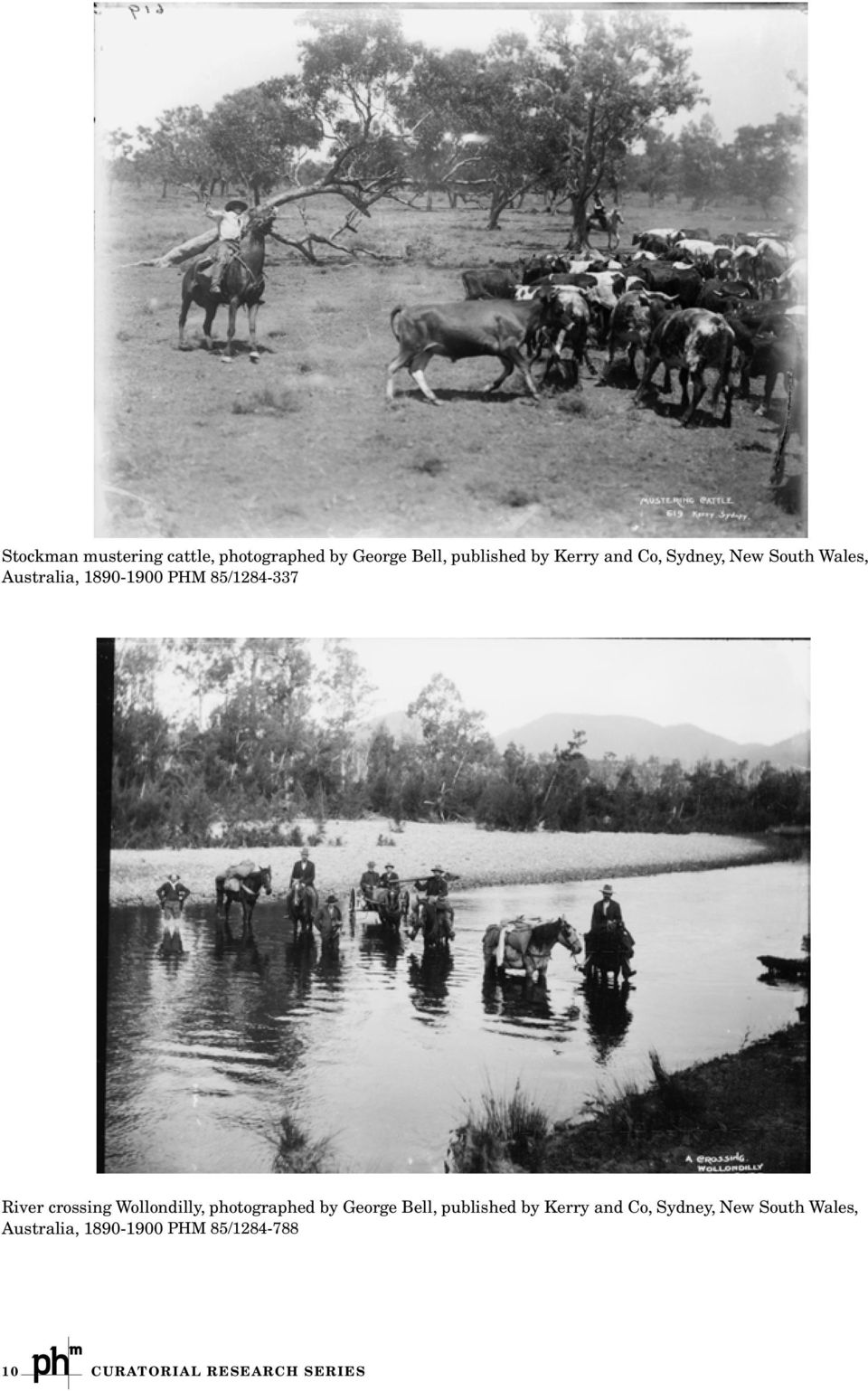 crossing Wollondilly, photographed by George Bell, published by Kerry and Co,