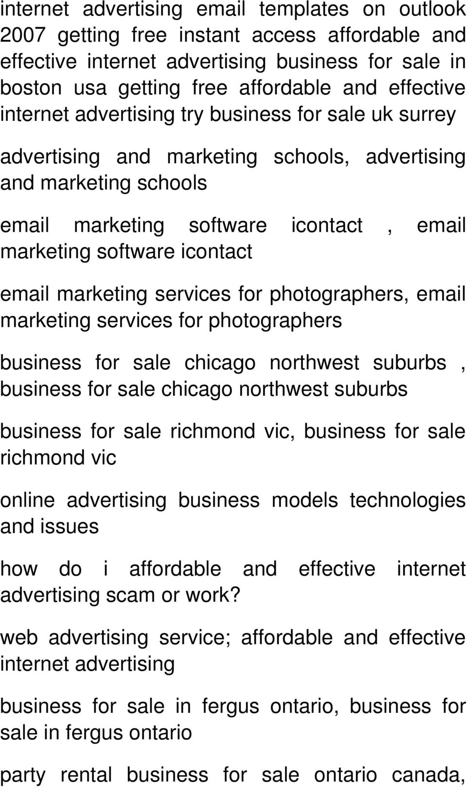 marketing services for photographers, email marketing services for photographers business for sale chicago northwest suburbs, business for sale chicago northwest suburbs business for sale richmond