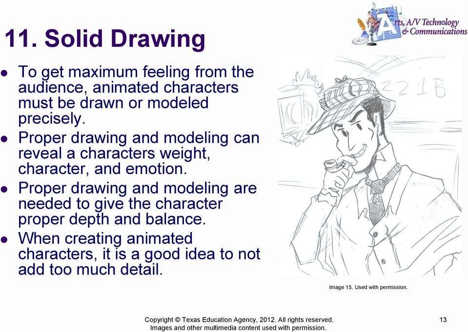 Proper drawing and modeling can reveal a characters weight, character, and emotion.