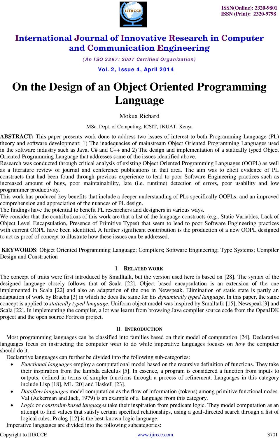 On The Design Of An Object Oriented Programming Language Pdf Free Download