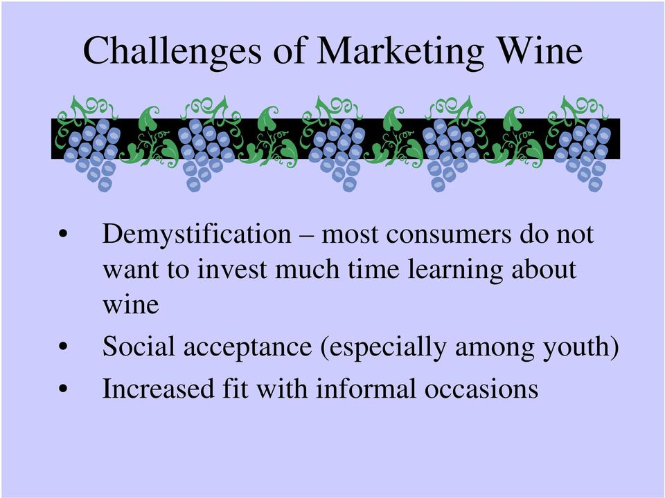 learning about wine Social acceptance