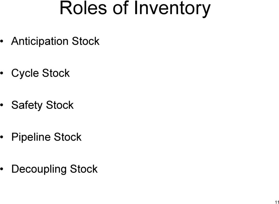 Stock Safety Stock