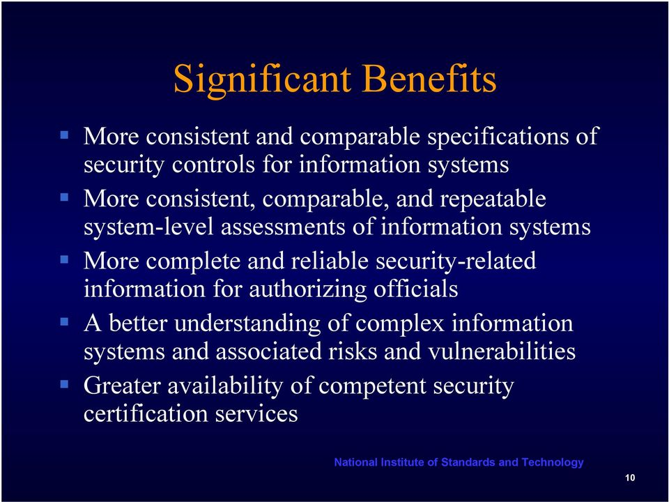 reliable security-related information for authorizing officials A better understanding of complex information