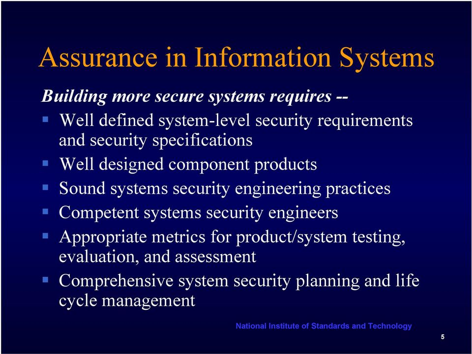 security engineering practices Competent systems security engineers Appropriate metrics for