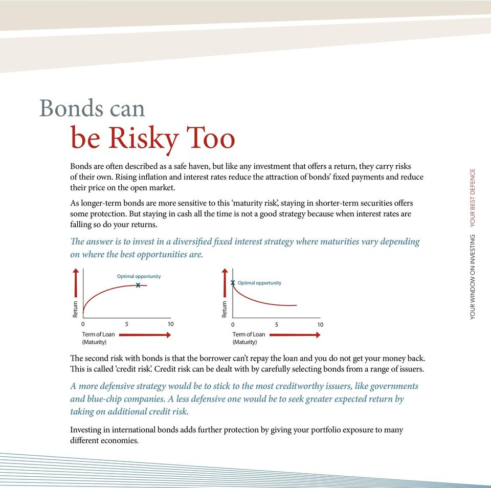 As longer-term bonds are more sensitive to this maturity risk, staying in shorter-term securities offers some protection.