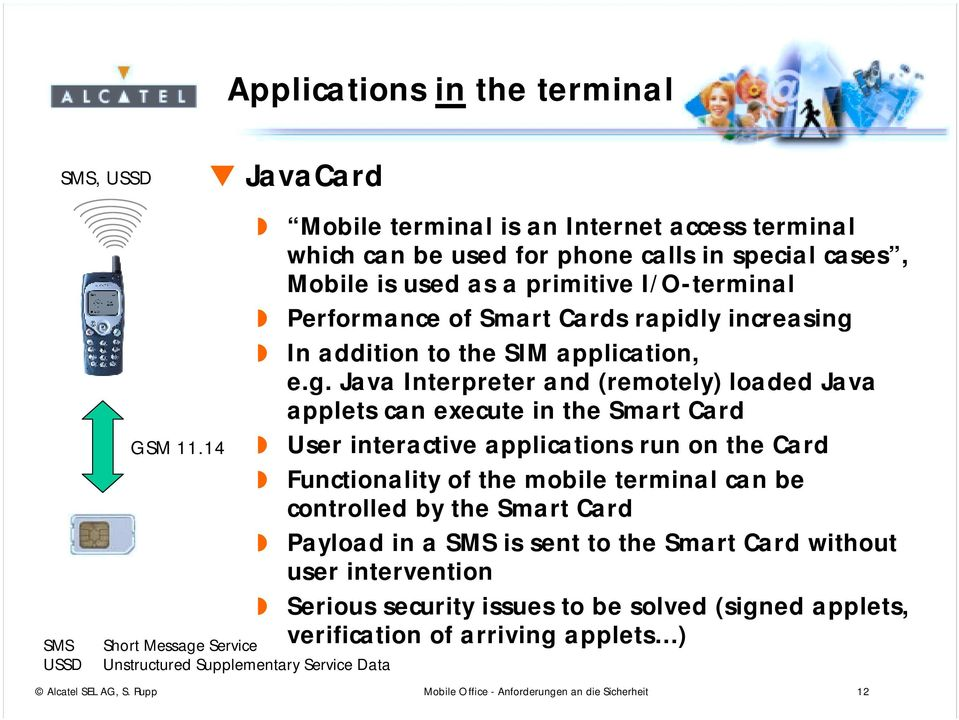 I/O-terminal Performance of Smart Cards rapidly increasing
