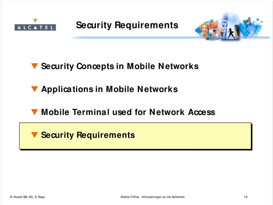 used for Network Access Security Requirements Alcatel
