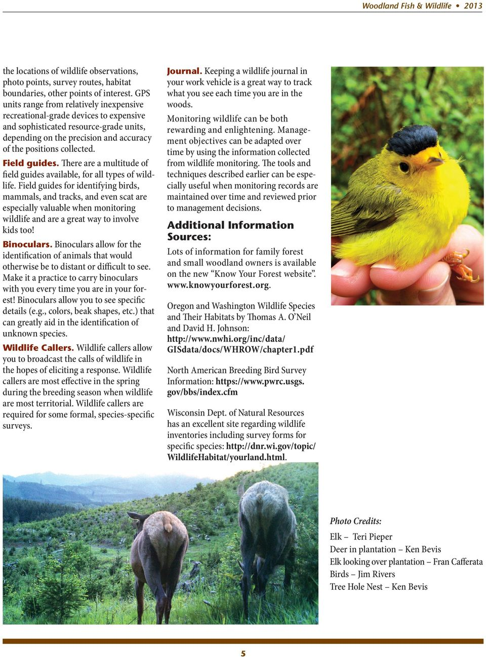 Field guides. There are a multitude of field guides available, for all types of wildlife.