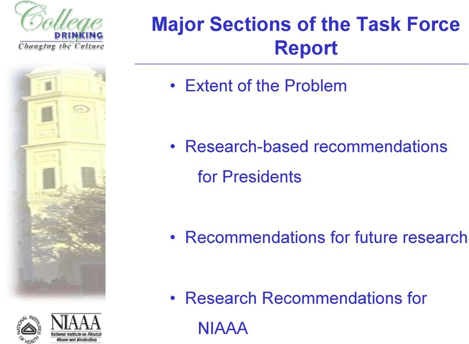 Research-based recommendations for Presidents