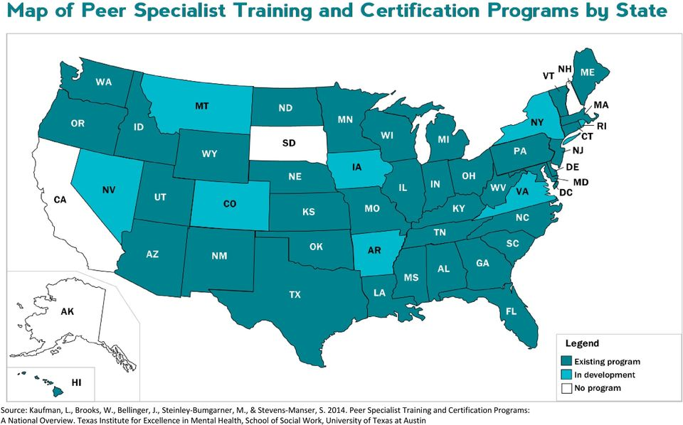 Peer Specialist Training and Certification Programs: A National