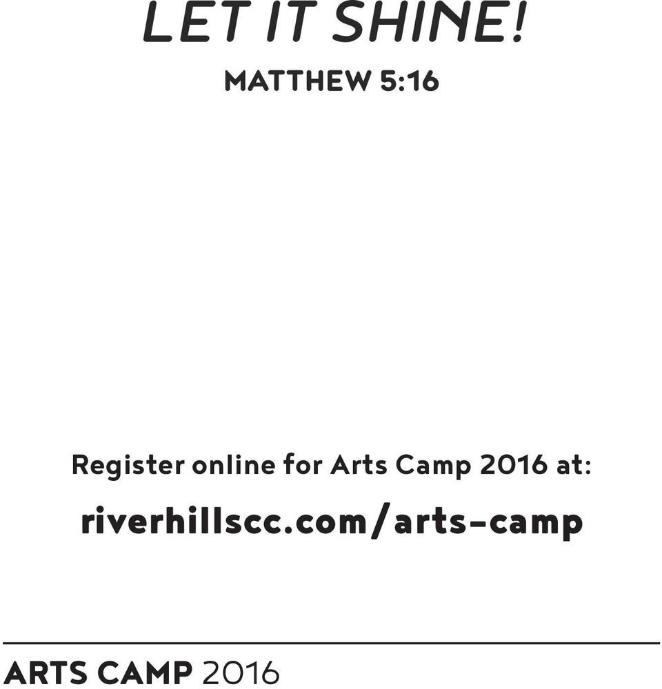 online for Arts Camp