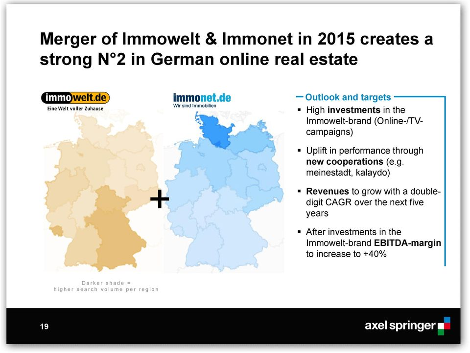 (e.g. meinestadt, kalaydo) + Revenues to grow with a doubledigit CAGR over the next five years After