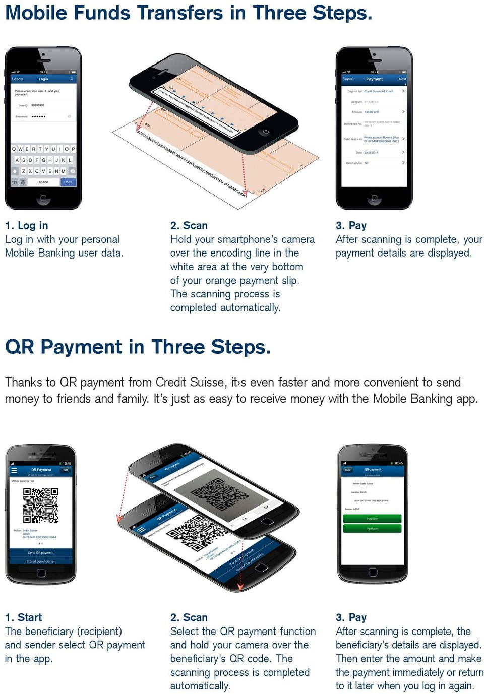 Pay After scanning is complete, your payment details are displayed. QR Payment in Three Steps.