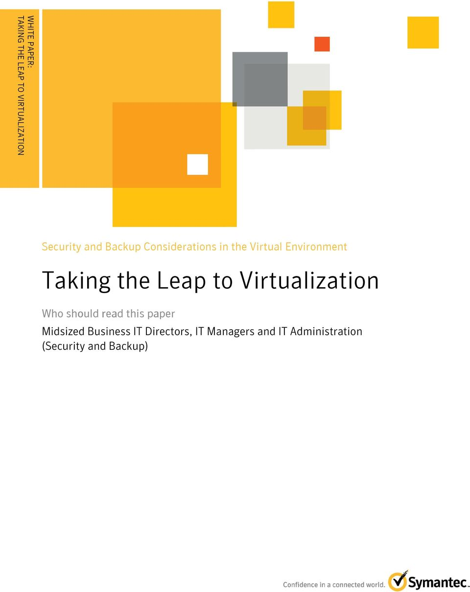 Virtualization Who should read this paper Midsized