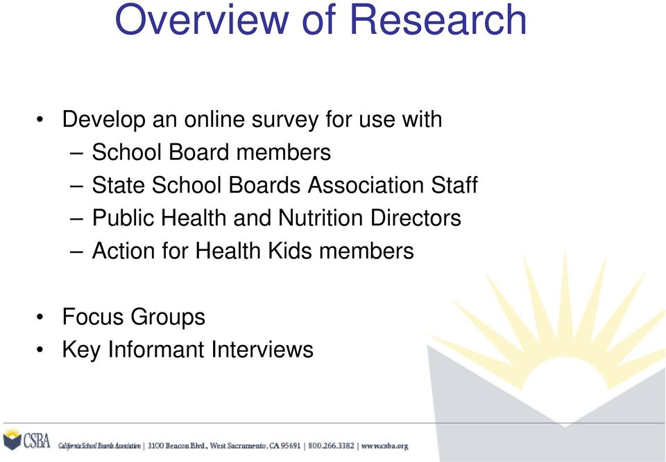Association Staff Public Health and Nutrition Directors