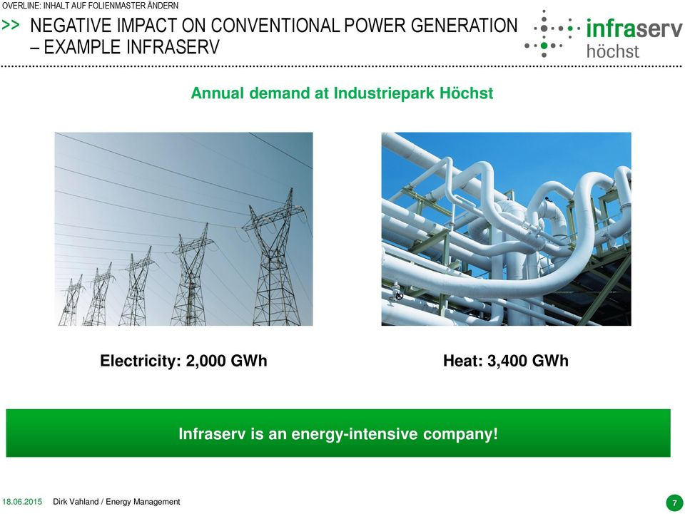 Electricity: 2,000 GWh Heat: 3,400 GWh Infraserv is an
