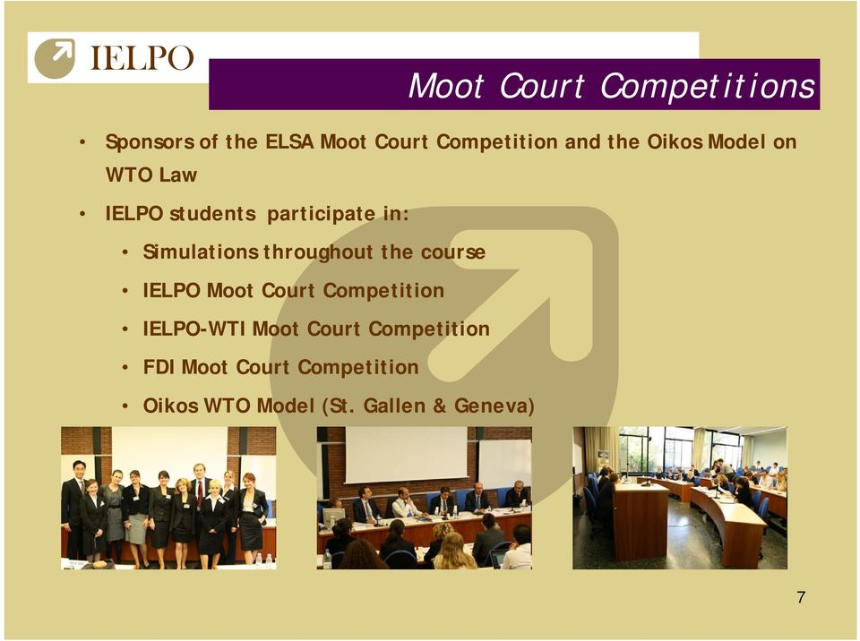 throughout the course IELPO Moot Court Competition IELPO-WTI Moot Court
