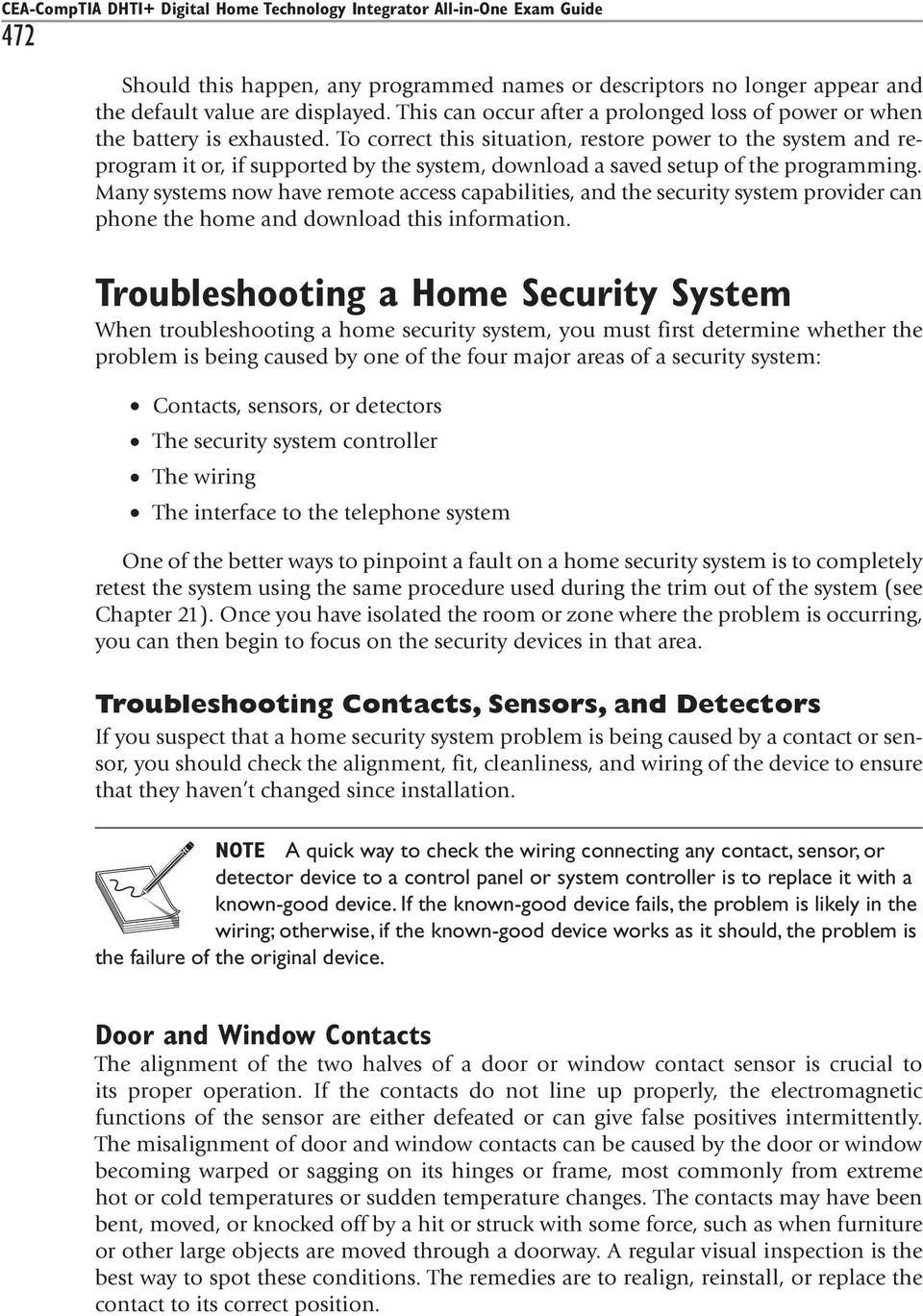 Monitoring And Troubleshooting A Home Security System Pdf Contacts Wiring Series To Correct This Situation Restore Power The Reprogram It Or If