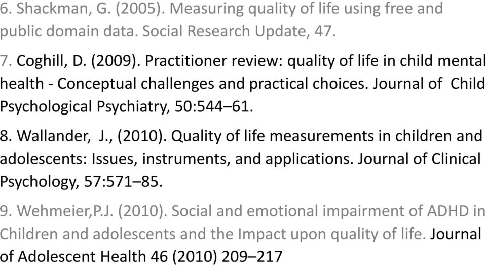 Quality of life journal pdf