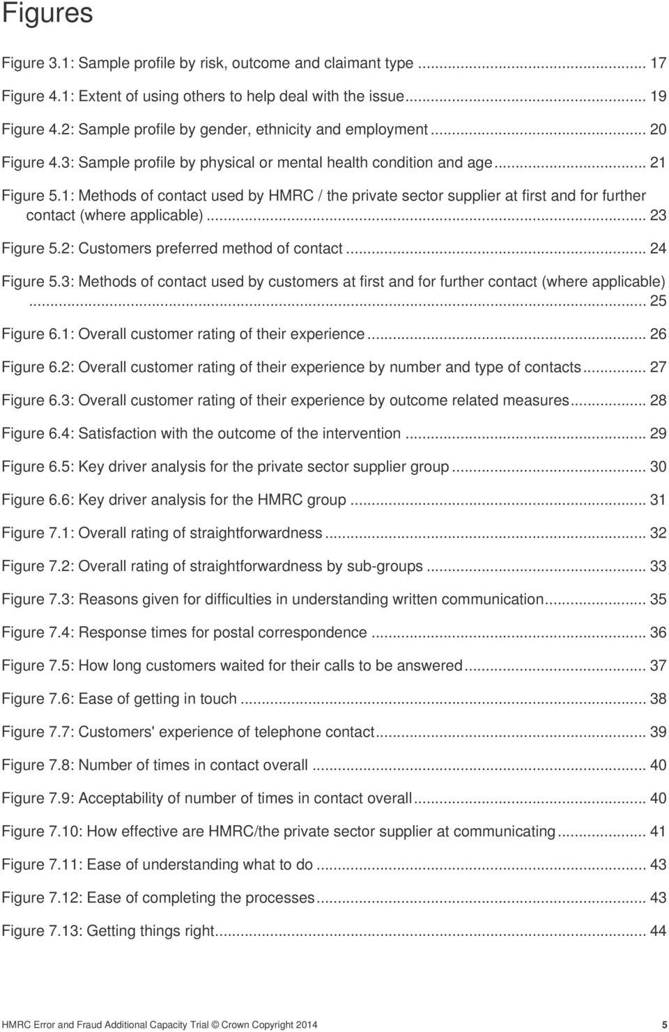 1: Methods of contact used by HMRC / the private sector supplier at first and for further contact (where applicable)... 23 Figure 5.2: Customers preferred method of contact... 24 Figure 5.