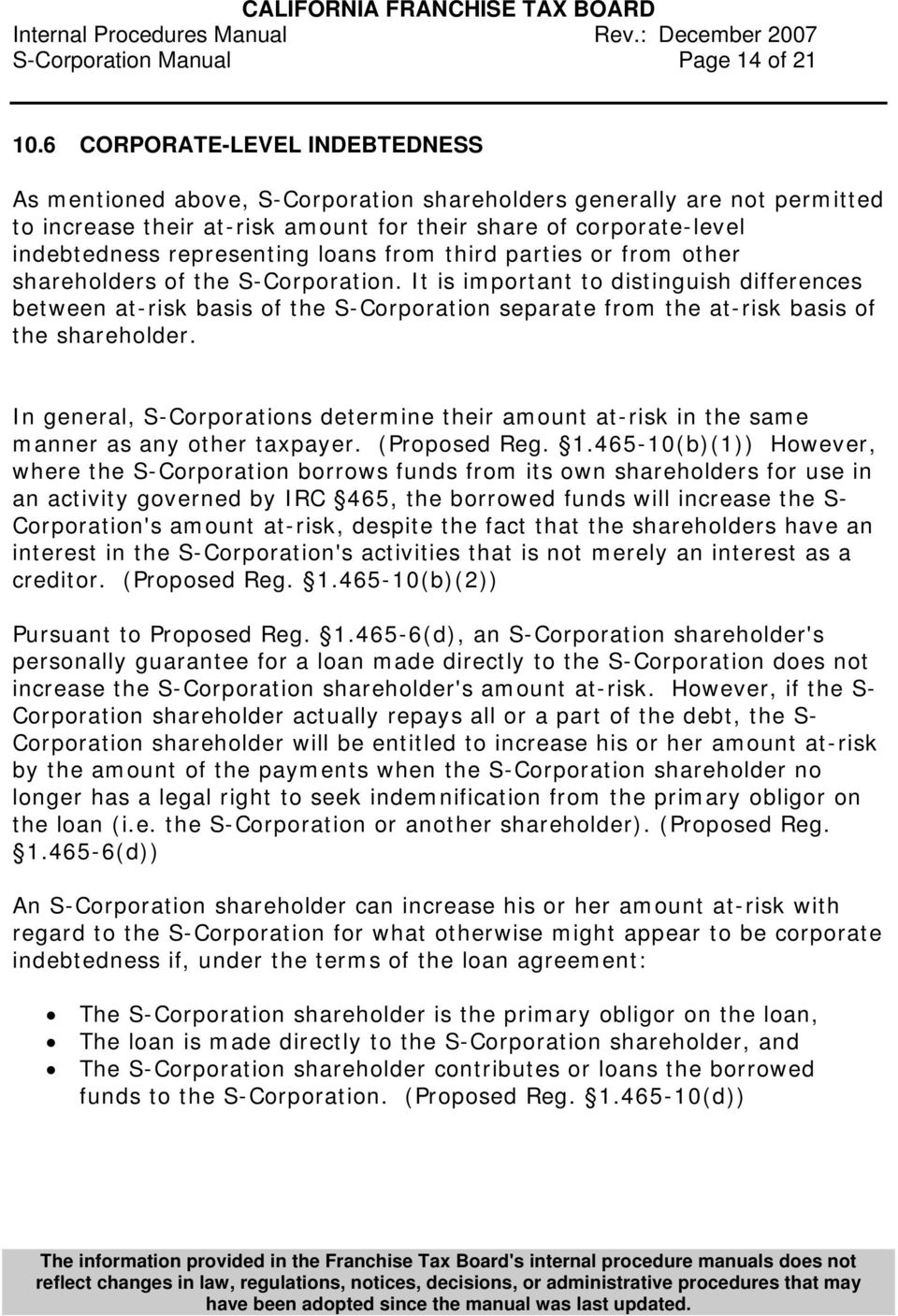 loans from third parties or from other shareholders of the S-Corporation.