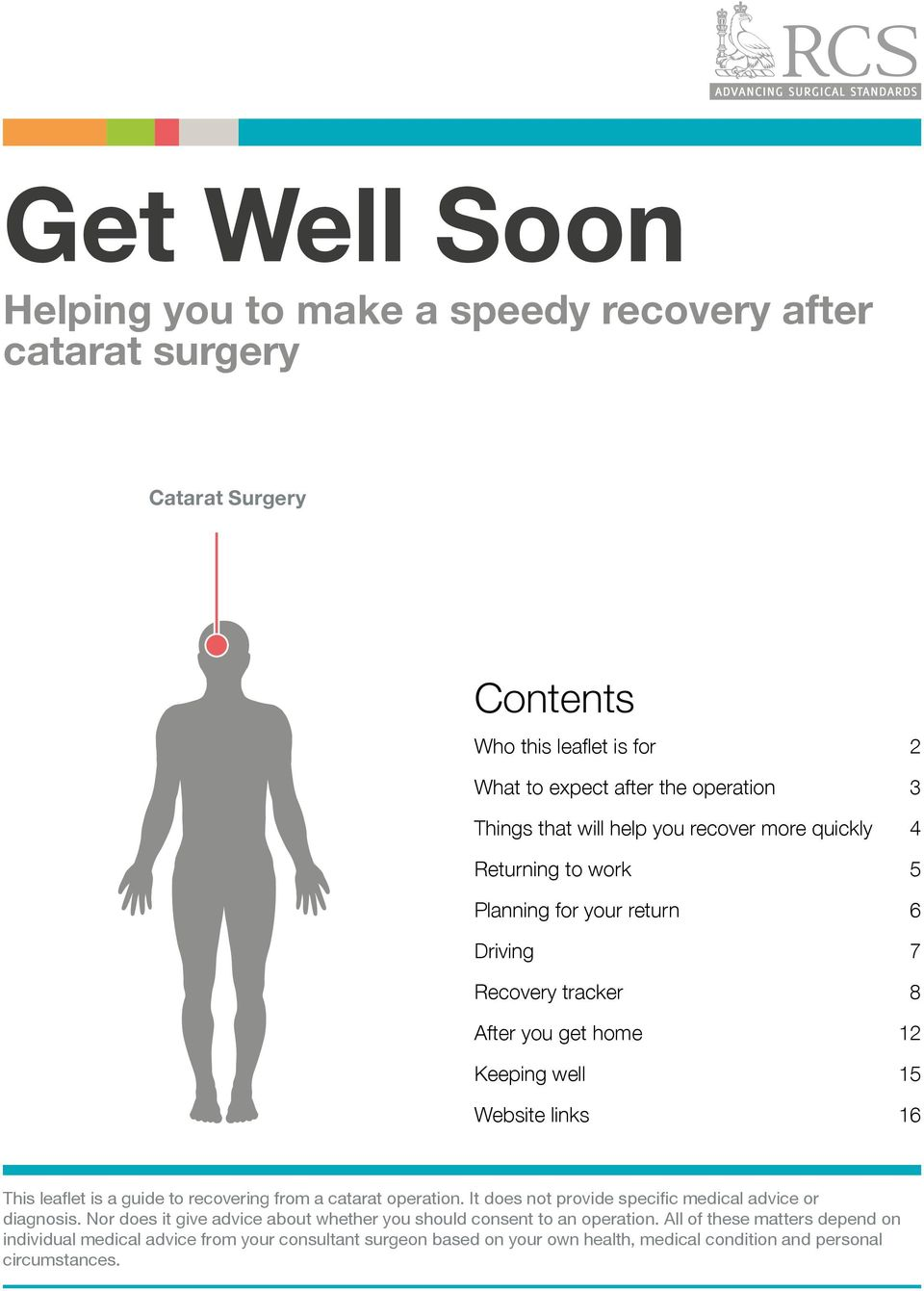 is a guide to recovering from a catarat operation. It does not provide specific medical advice or diagnosis.