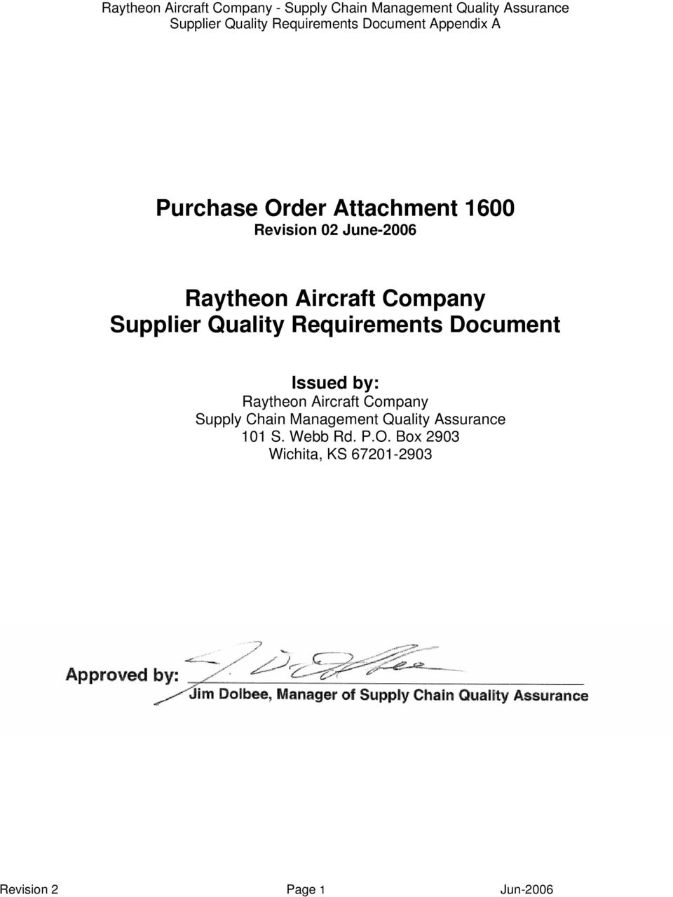 Raytheon Aircraft Company Supply Chain Management Quality Assurance