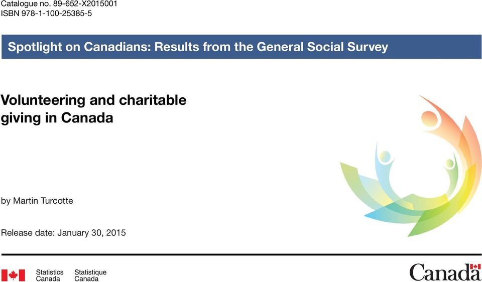 Canadians: Results from the General Social Survey