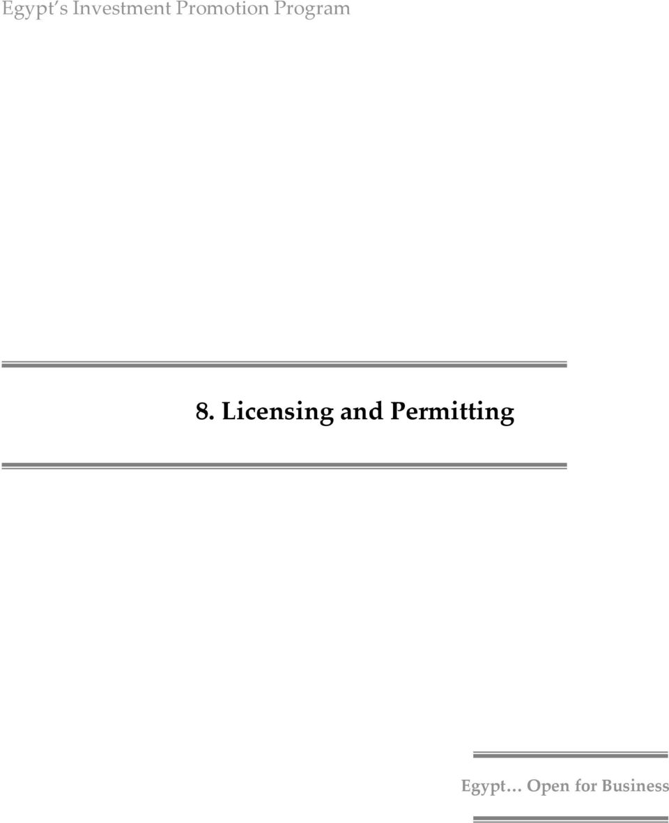 Licensing and