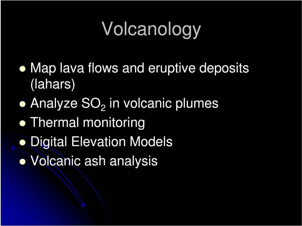 2 in volcanic plumes Thermal