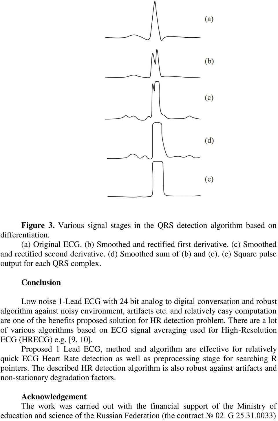 Conclusion Low noise 1-Lead ECG with 24 bit analog to digital conversation and robust algorithm against noisy environment, artifacts etc.