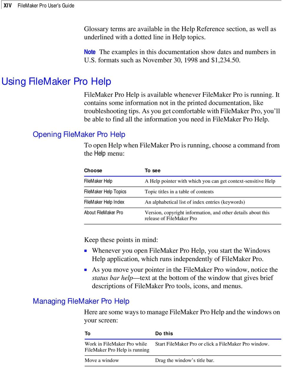 Chapter 1: FileMaker Pro basics - PDF