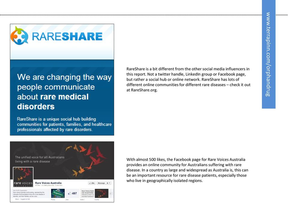 RareShare has lots of different online communities for different rare diseases check it out at RareShare.org.