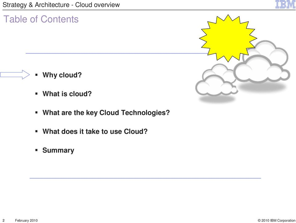What are the key Cloud