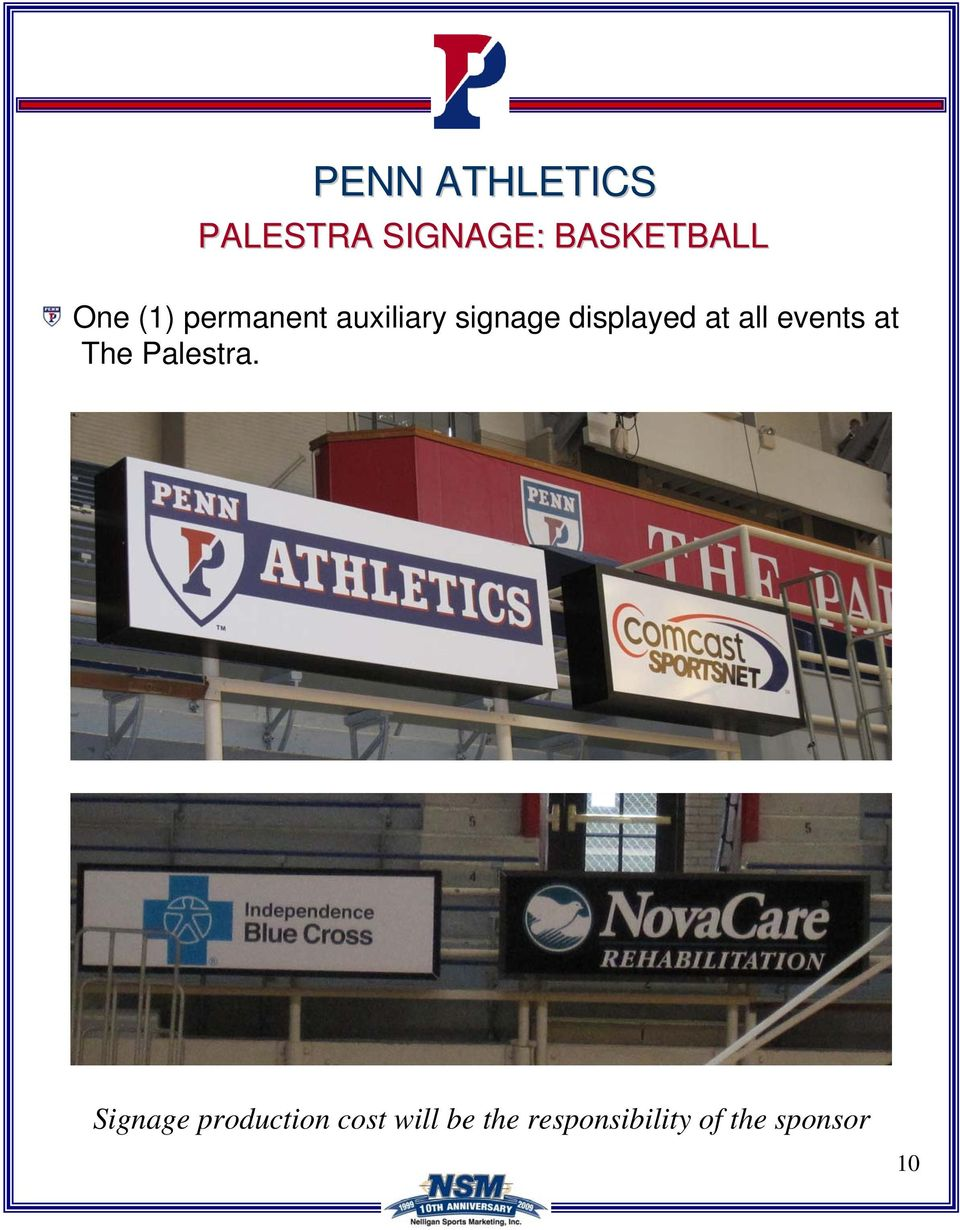 all events at The Palestra.