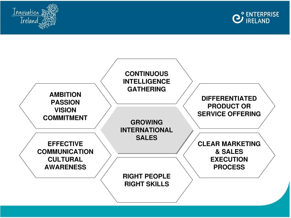 INTERNATIONAL SALES RIGHT PEOPLE RIGHT SKILLS DIFFERENTIATED