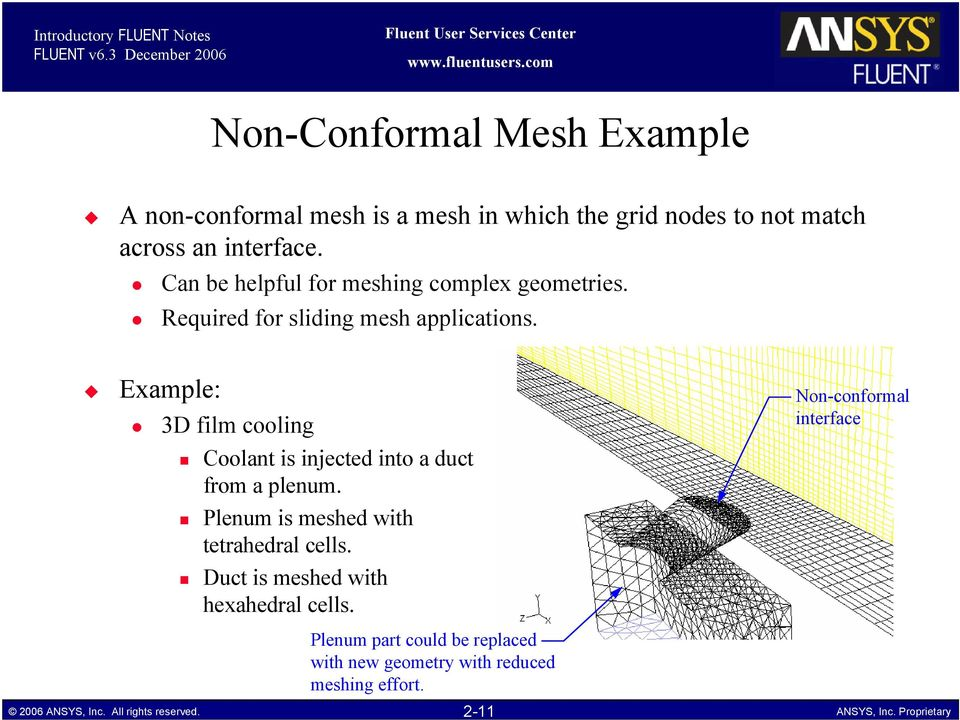 Can be helpful for meshing complex geometries. Required for sliding mesh applications.