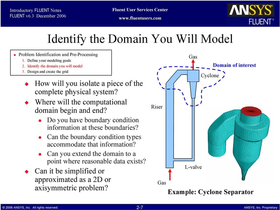 Where will the computational domain begin and end? Do you have boundary condition information at these boundaries?