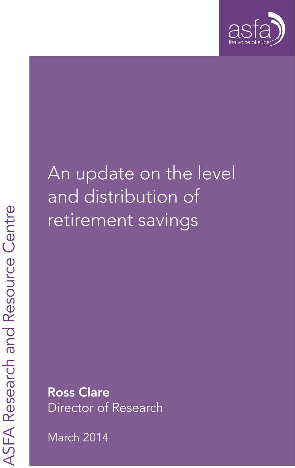distribution of retirement savings
