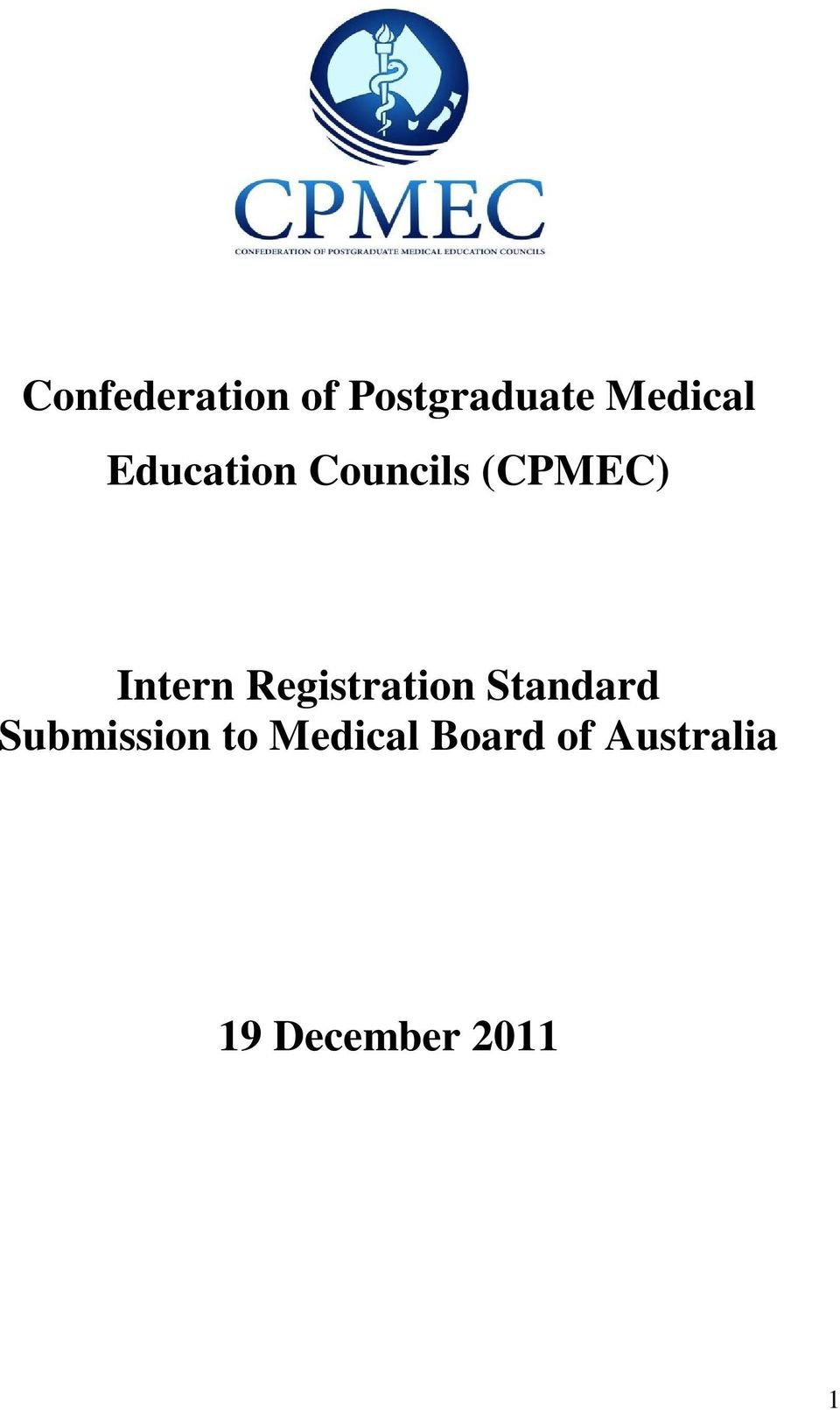 Registration Standard Submission to