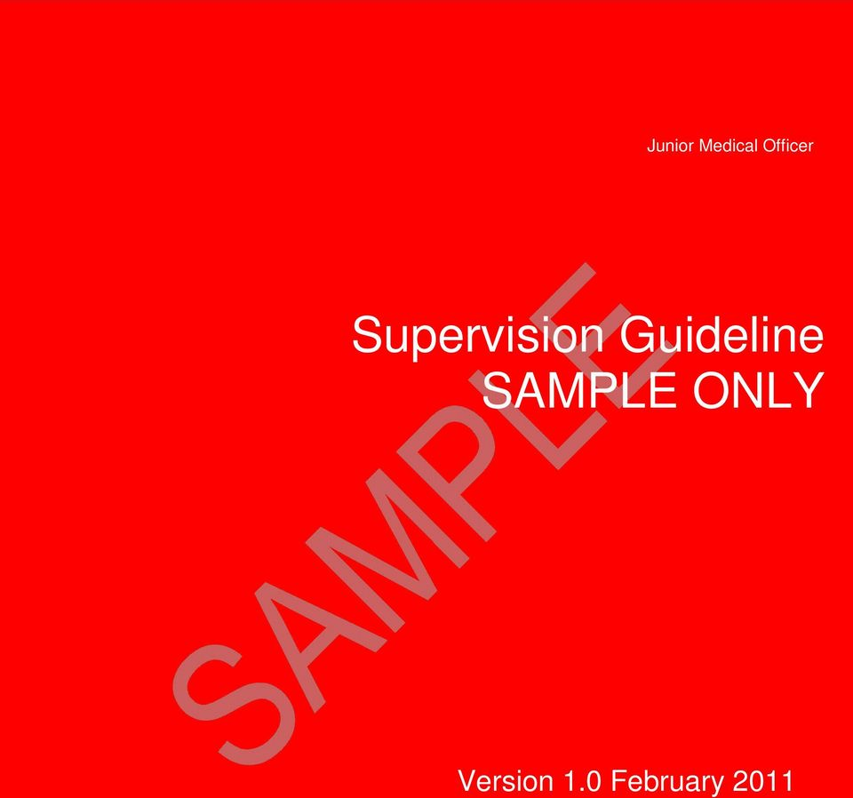 Guideline SAMPLE