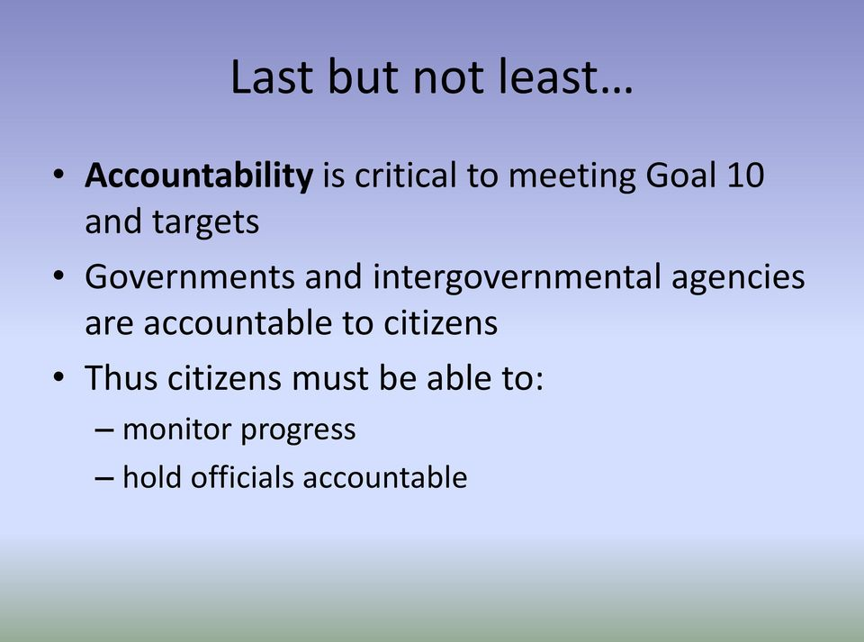intergovernmental agencies are accountable to citizens