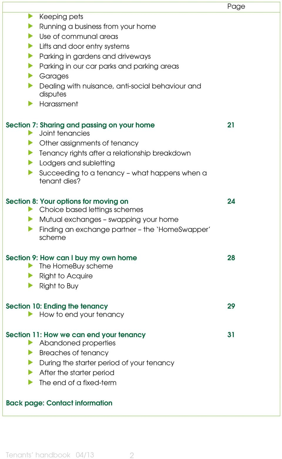 Tenants Handbook A Guide To Your New Home Pdf