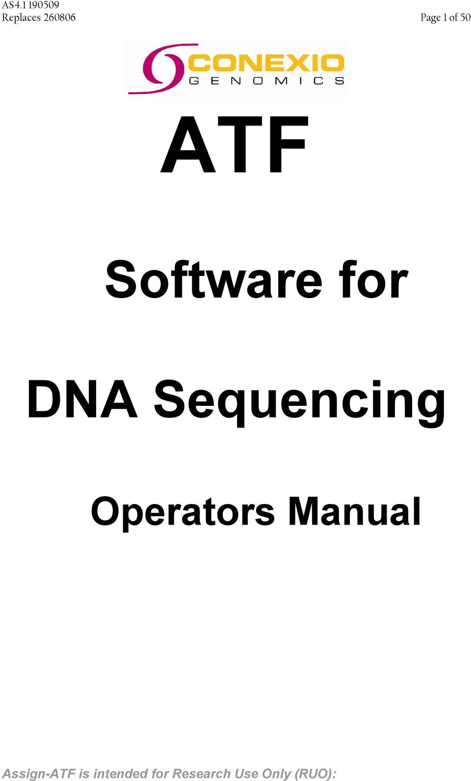 Software for DNA