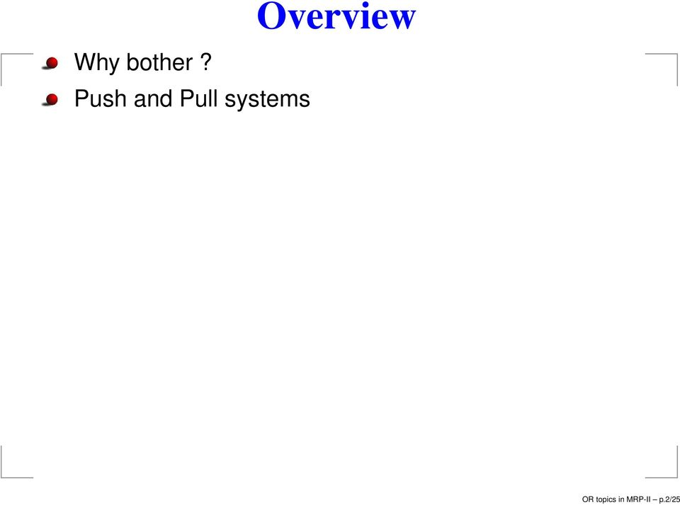 systems Overview