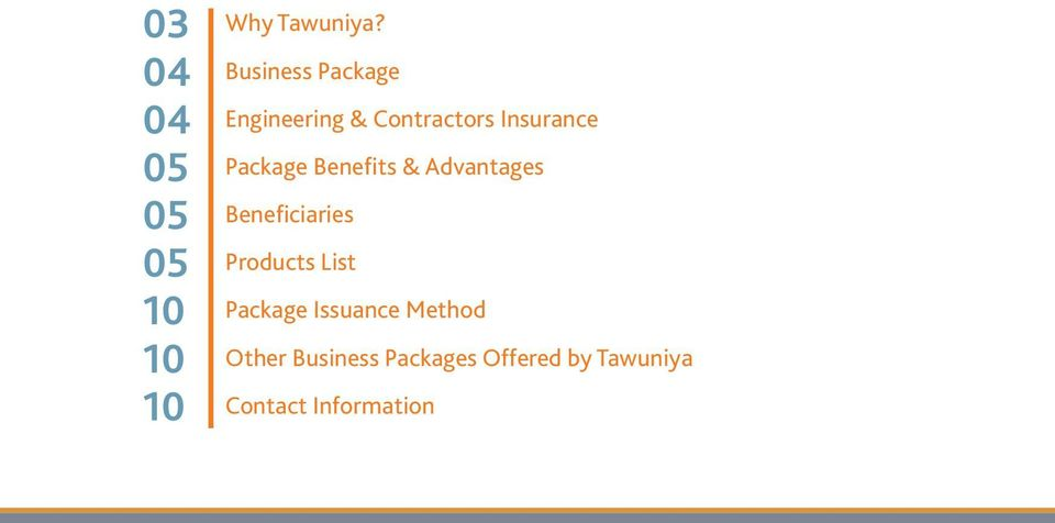 Benefits & Advantages Beneficiaries Products List Package