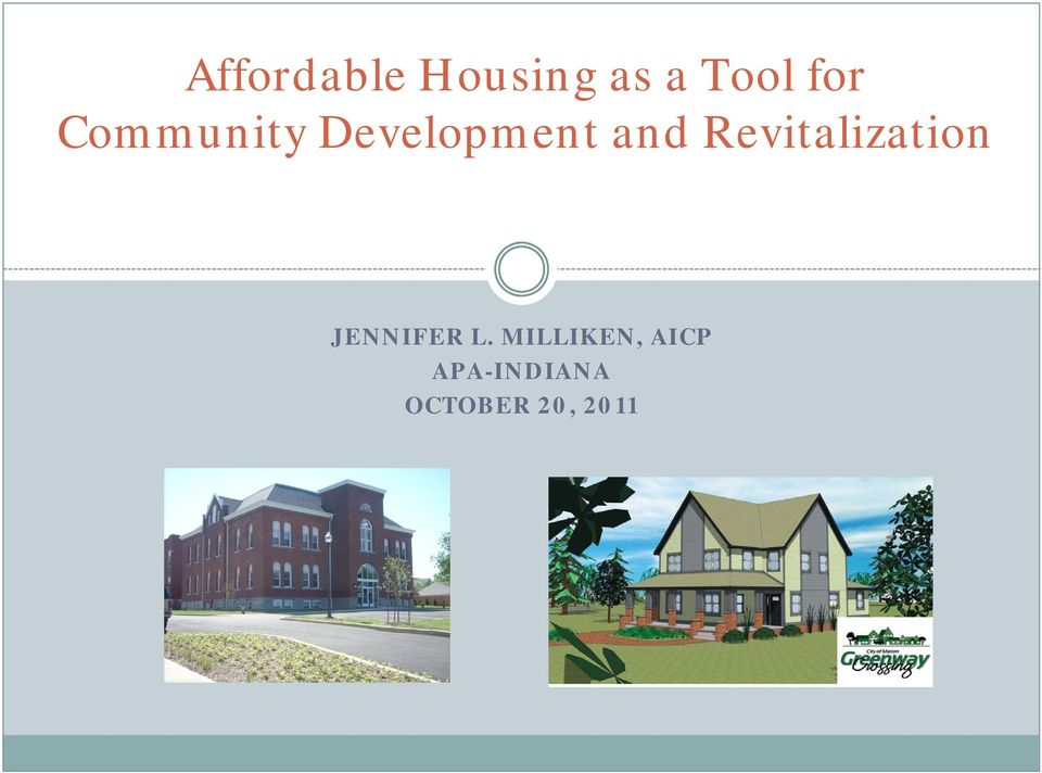 Revitalization JENNIFER L.