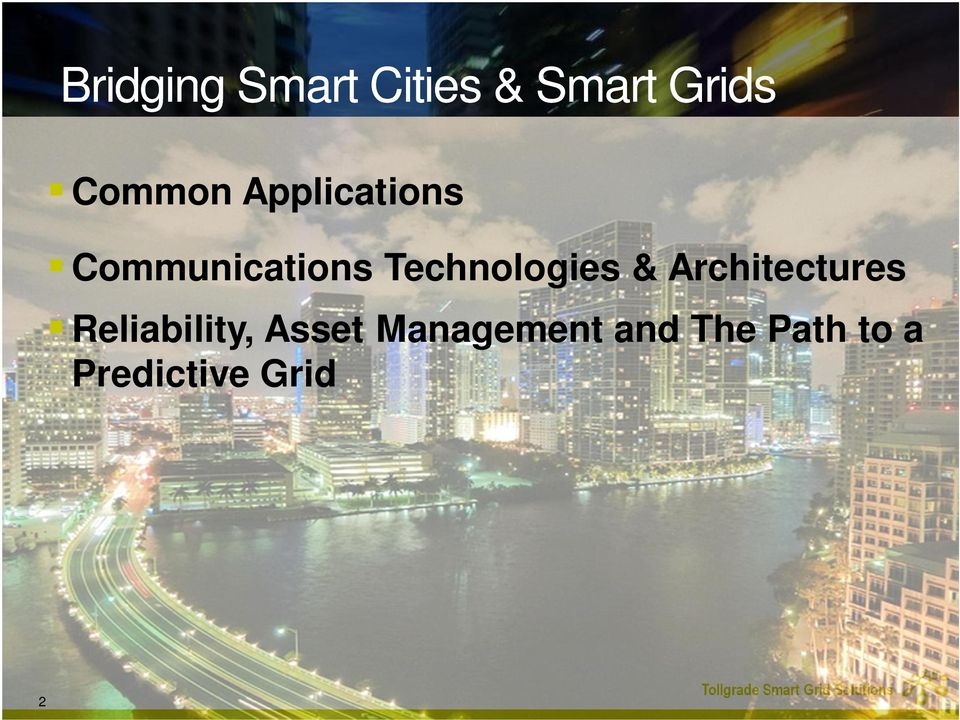 Technologies & Architectures Reliability,