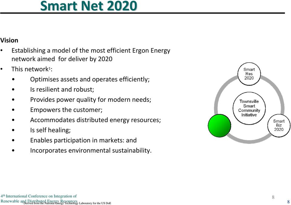 needs; Empowers the customer; Accommodates distributed energy resources; Is self healing; Enables participation in